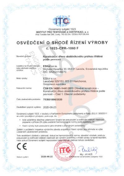 Certifikát rezivo ČSN JPEG
