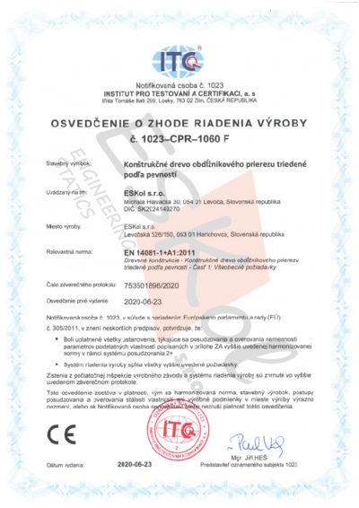 Certifikát rezivo STN JPEG
